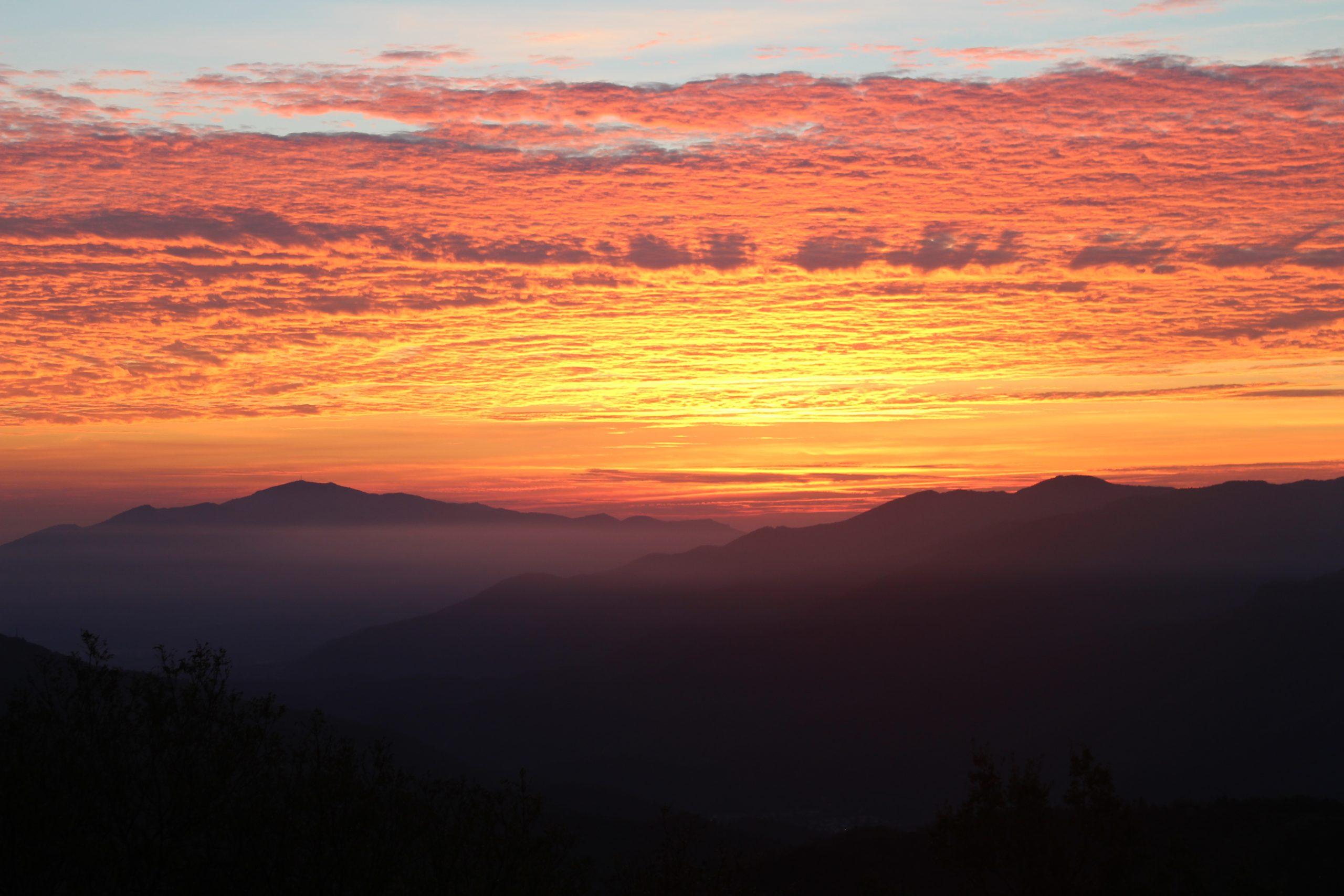 Le coucher de Soleil à la Taillède